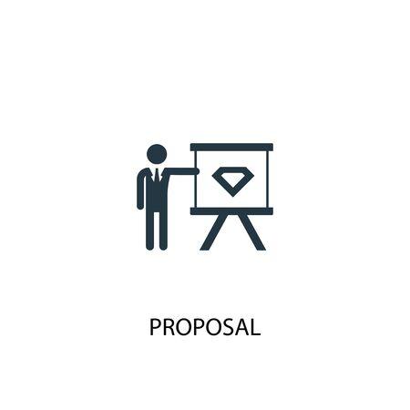icono de propuesta. Ilustración de elemento simple. diseño de símbolo de concepto de propuesta. Puede usarse para web
