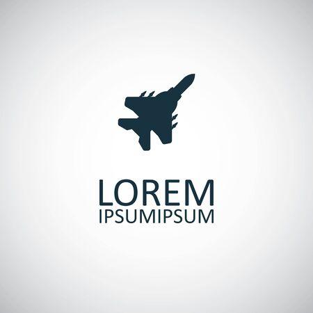 fighter plane icon simple flat element concept design