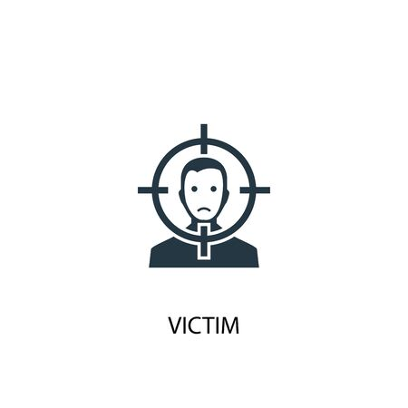 victim icon. Simple element illustration. victim concept symbol design. Can be used for web