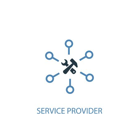 Service provider concept 2 colored icon. Simple blue element illustration. Service provider concept symbol design. Can be used for web and mobile