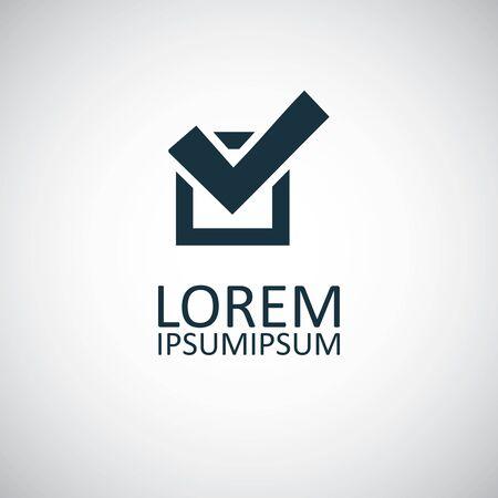 check icon simple flat element concept design