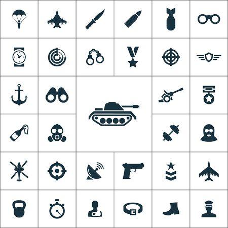army icons universal set Illusztráció
