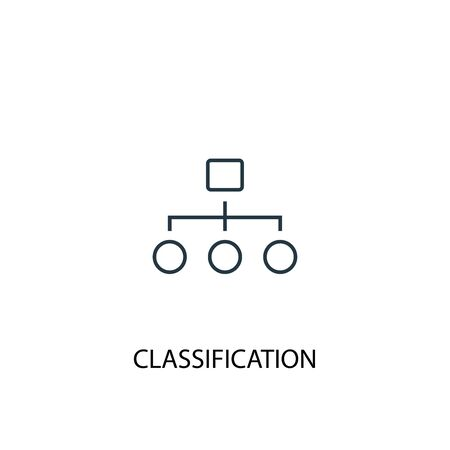 Classification concept line icon. Simple element illustration. Classification concept outline symbol design. Can be used for web and mobile