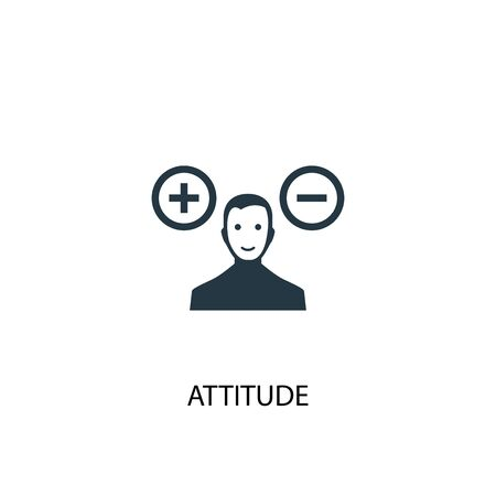 attitude icon. Simple element illustration. attitude concept symbol design. Can be used for web and mobile.
