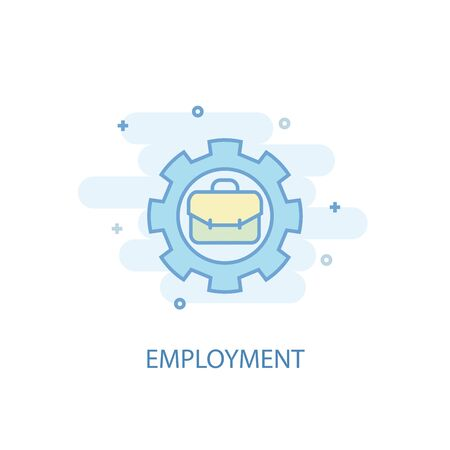 employment line concept. Simple line icon, colored illustration. employment symbol flat design. Can be used for