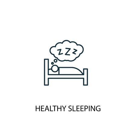 healthy sleeping concept line icon. Simple element illustration. healthy sleeping concept outline symbol design. Can be used for web and mobile