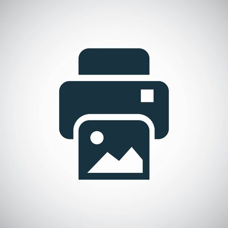 photo printer icon for web and UI on white background