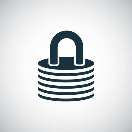 Schlosssymbol für Web und Benutzeroberfläche auf weißem Hintergrund