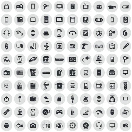électronique 100 icônes universelles définies pour le web et l'interface utilisateur.