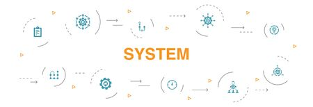 system Infographic 10 steps circle design.management, processing, plan, scheme icons Иллюстрация