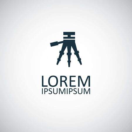 tripod icon, on white background. 스톡 콘텐츠 - 133749256