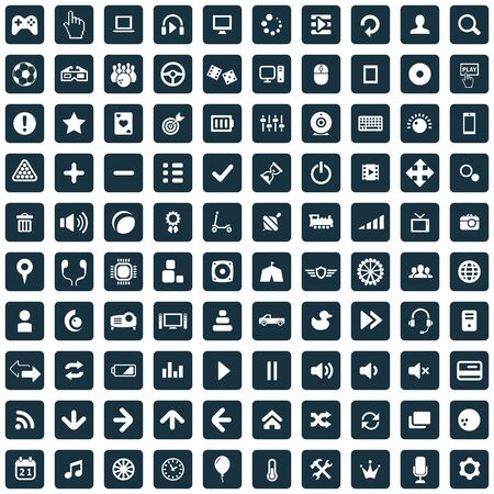 game 100 icons universal set for web and mobile. Stock fotó - 133749583