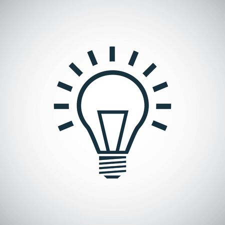 light bulb icon, on white background. Ilustração