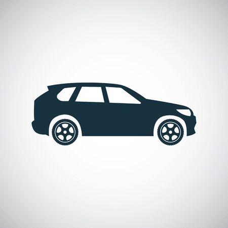 car icon, on white background.
