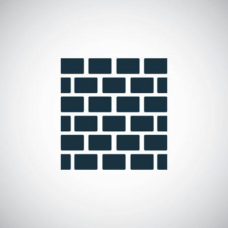 brick wall icon, on white background.  イラスト・ベクター素材