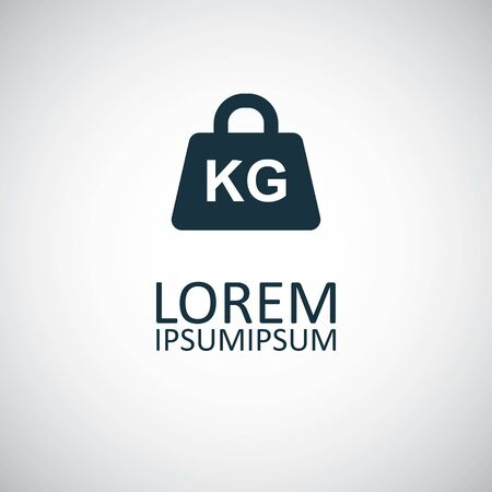 weight kg icon, on white background.