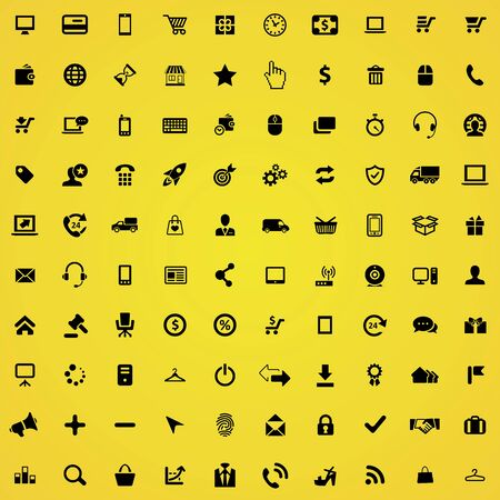 e-commerce 100 icons universal set for web and mobile.