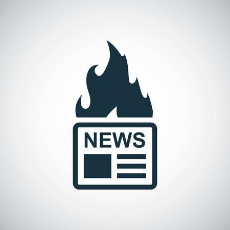hot news icon, on white background.