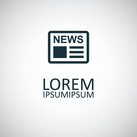 news icon, on white background. Stock Illustratie