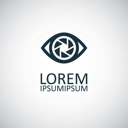 eye shutter icon, on white background. 向量圖像