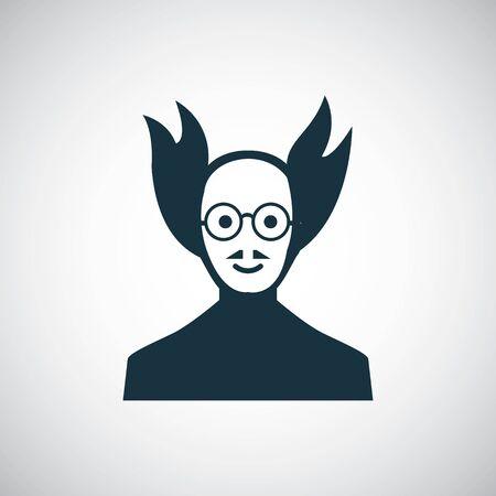 scientist icon, on white background.
