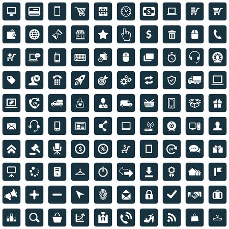e-commerce 100 icons universal set for web and UI.