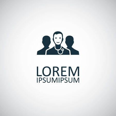 doctor team icon for web and UI on white background Ilustração