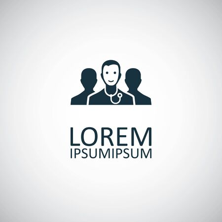 doctor team icon for web and UI on white background Illustration