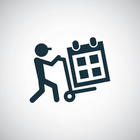 calendar delivery icon for web and UI on white background 일러스트