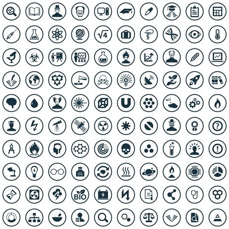 science 100 icons universal set for web and UI Banque d'images - 133751240