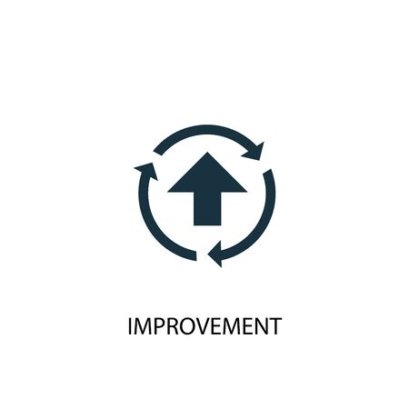 improvement icon. Simple element illustration. improvement concept symbol design. Can be used for web Vettoriali