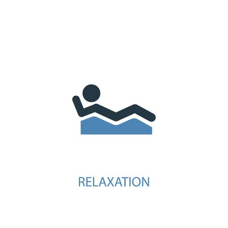 relaxation concept 2 colored icon. Simple blue element illustration. relaxation concept symbol design. Can be used for web and mobile