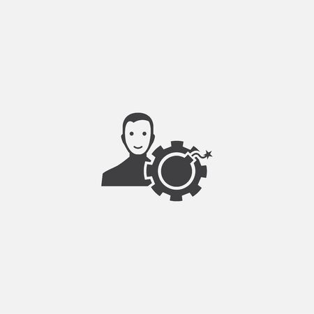 risk manager base icon. Simple sign illustration. risk manager symbol design. Can be used for web, and mobile