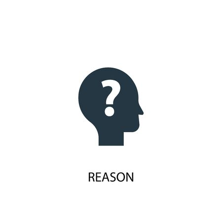 reason icon. Simple element illustration. reason concept symbol design. Can be used for web Ilustração