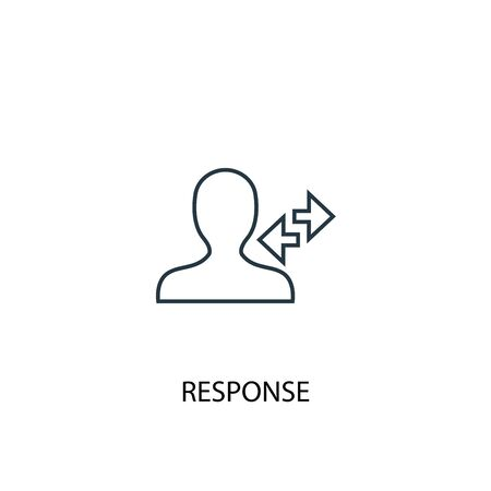 response concept line icon. Simple element illustration. response concept outline symbol design. Can be used for web and mobile