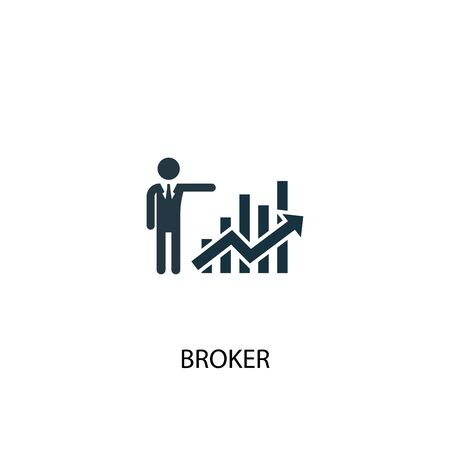 Broker icon. Simple element illustration. Broker concept symbol design. Can be used for web