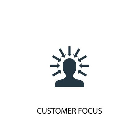 customer focus icon. Simple element illustration. customer focus concept symbol design. Can be used for web and mobile.