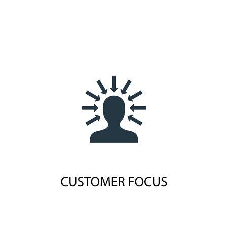 icono de enfoque al cliente. Ilustración de elemento simple. diseño de símbolo de concepto de enfoque al cliente. Se puede utilizar para web y móvil. Ilustración de vector