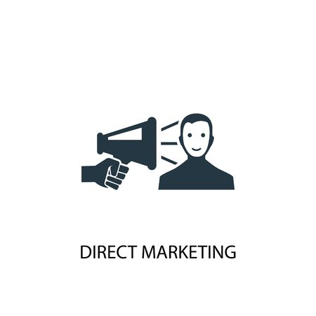 Direct Marketing icon. Simple element illustration. Direct Marketing concept symbol design. Can be used for web