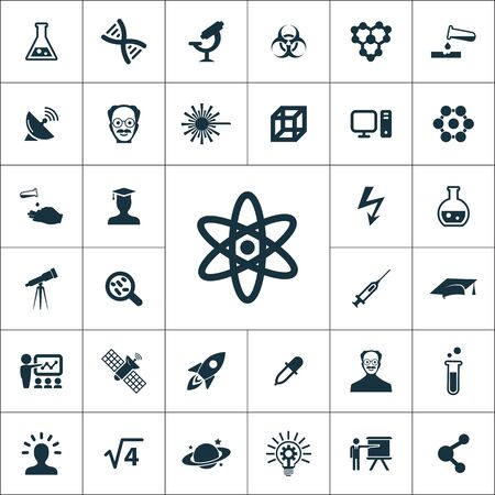 science icons universal set for web and UI