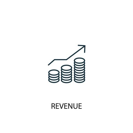 revenue concept line icon. Simple element illustration. revenue concept outline symbol design. Can be used for web and mobile Illustration