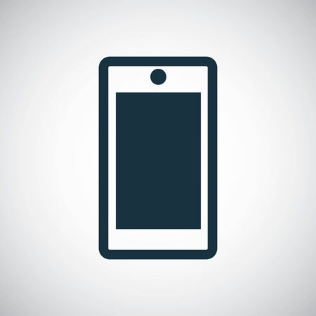 smartphone icon for web and UI on white background