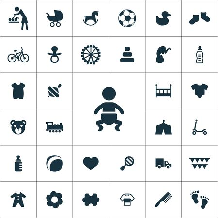 baby, kids icons universal set
