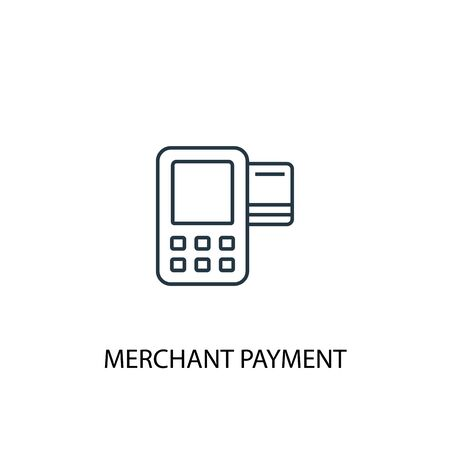 Merchant payment concept line icon. Simple element illustration. Merchant payment concept outline symbol design. Can be used for web and mobile 向量圖像