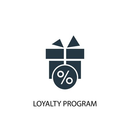 loyalty program icon. Simple element illustration. loyalty program concept symbol design. Can be used for web