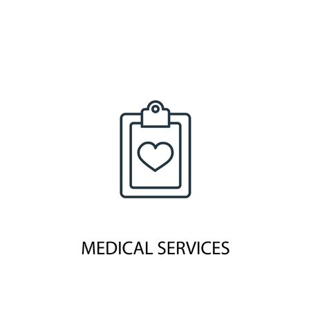 Medical services concept line icon. Simple element illustration. Medical services concept outline symbol design. Can be used for web and mobile Ilustrace