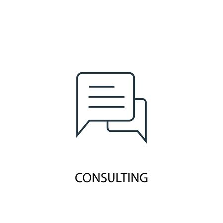 Consulting concept line icon. Simple element illustration. Consulting concept outline symbol design. Can be used for web and mobile