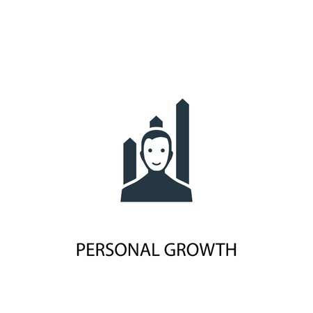 personal growth icon. Simple element illustration. personal growth concept symbol design. Can be used for web