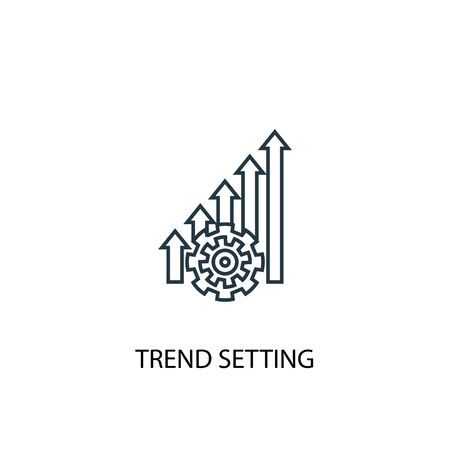 trend setting concept line icon. Simple element illustration. trend setting concept outline symbol design. Can be used for web and mobile 向量圖像