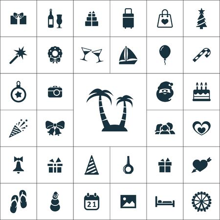 holiday icons universal set for web and UI